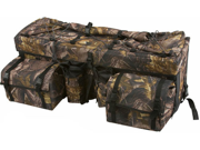 Camouflage ATV Cargo Rear Rack Gear Bag with Topside Bungee Tie Down Storage