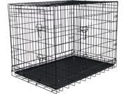 """X-Large Folding Steel Pet Travel Kennel and Training Cage 35.5"""" x 24"""" x 27.5"""""""