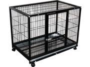 Rolling Portable Pet Kennel Training Crate
