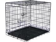 Medium Folding Steel Pet Travel Kennel and Training Cage 23.5 x 18 x 21