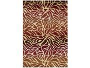 Hand-tufted Contour Abstract Lilies Flame Rug (8' x 10'6)