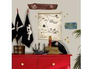 Pirates Maps & Signs Peel & Stick Giant Wall Decal Art