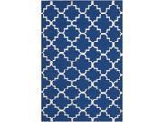 Safavieh Hand-woven Moroccan Reversible Dhurrie Dark Blue Wool Rug (3' x 5')