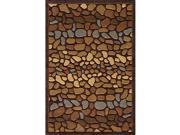Hand-tufted Pebbles Brown Rug (3'6 x 5'6)