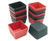 Freshware 12-Pack Mini Square Silicone Reusable Baking Cup 9SIAD245E20111