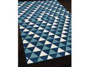 Indoor/Outdoor Blue Kaleidoscope Area Rug (2'3 x 4'6)