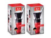 Melitta '64014' Ready Set Joe Red Pour-over Coffee Brewer Travel Mug (Set of 2) 9SIV16A6727118