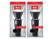 Melitta Ready Set Joe Black Pour-over Travel Mug Coffee Brewer (Set of 2) 9SIV16A6731866