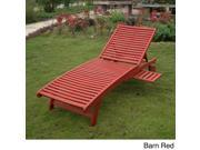 International Caravan Acacia Hardwood Multi-position Chaise Lounge with Pull Out Tray