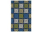Fiesta Panel Blue Indoor/ Outdoor Rug (3' x 5')