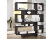 Parker Dark Brown Espresso Modern Storage Shelf
