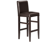 Set of 4 Kendall Contemporary Wood/Faux Leather Barstool - Espresso