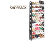 Convertible 30-Pair Shoe Rack Tower with Zippered Cover