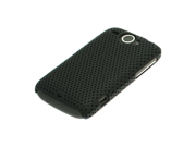 Black Hard Perforated Mesh Back Cover Case for HTC Wildfire