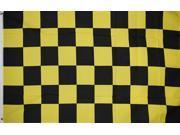 CHECKERED BLACK/YELLOW  3'x5' POLY FLAG