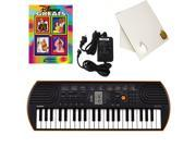 Casio SA-76 44 Key Mini Keyboard Deluxe Bundle Includes Bonus Casio AC Adapter, Desktop Music Stand & Disney Greats Beginning Piano Solo Songbook
