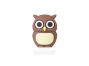 Bone Collection Owl Lightning Cap Apple Lightning Plug Protector for iPhone 5/iPad mini/iPad 4 - Brown