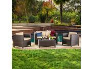 Christopher Knight Home Puerta Brown Outdoor Wicker Sofa Set