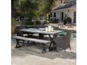 Christopher Knight Home Ponza Outdoor 6-piece Picnic Dining Set