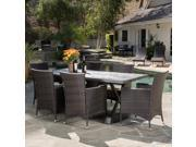 Christopher Knight Home Capri Outdoor 7-piece Dining Set with Cushions