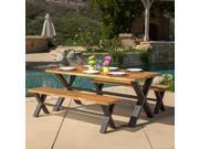 Christopher Knight Home Sanibel Outdoor 3-piece Acacia Wood Dining Set