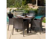 Christopher Knight Home Anaya Outdoor 5-piece Wicker Dining Set