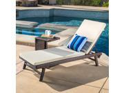 Christopher Knight Home Waveland Outdoor 2-Piece Wicker Adjustable Chaise Lounge Set with Cushion