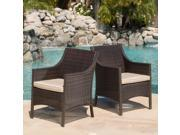 Christopher Knight Home Riga Outdoor Wicker Dining Chair (Set of 2)
