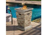 "Christopher Knight Home Laguna Outdoor 19"" Column Propane Fire Pit with Lava Rocks"