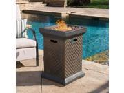 "Christopher Knight Home Mendocino Outdoor 19"" Column Liquid Propane Fire Pit with Lava Rocks"