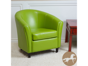 Christopher Knight Home 220323 Napoli Sherri Bonded Leather Chair - Lime Green