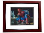 Andrew Garfield Autographed SPIDERMAN 8x10 Photo MAHOGANY CUSTOM FRAME 9SIA00Y4510416