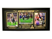 New England Patriots Super Bowl 49 Champions Triple 8X10 Frame, Black
