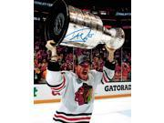 Andrew Shaw Signed Chicago Blackhawks 2013 Stanley Cup Trophy Bloody Face 8x10 Photo 9SIA1Z03G38895