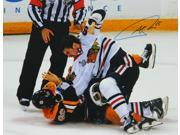 Andrew Shaw Signed Chicago Blackhawks 2013 Stanley Cup Finals Fight 11x14 Photo 9SIA1Z03G38944