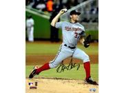 Stephen Strasburg Signed Nationals Road Game Pitching Action 8x10 Photo 9SIA1Z04FC7264