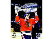 Andrew Shaw Signed Chicago Blackhawks 2015 Stanley Cup Trophy 8x10 Photo 9SIA00Y51S8614