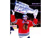 Duncan Keith Signed Chicago Blackhawks 2015 Stanley Cup Trophy 8x10 Photo 9SIA1Z04FE3222