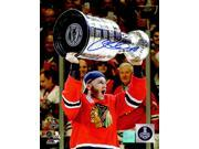 Patrick Kane Signed Chicago Blackhawks 2015 Stanley Cup Trophy 8x10 Photo 9SIA1Z04FE3220