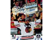 Patrick Sharp Signed Chicago Blackhawks Holding 2013 Stanley Cup Trophy 8x10 Photo 9SIA00Y51T2290
