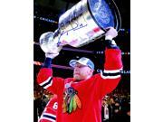 Marian Hossa Signed Chicago Blackhawks 2015 Stanley Cup Trophy 8x10 Photo 9SIA1Z04FE3203