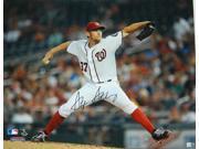 Stephen Strasburg Signed Washington Nationals Pitching Action 16x20 Photo 9SIA1Z04FG9014