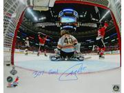 "Andrew Shaw Signed Blackhawks 2013 Stanley Cup Finals Game 1 Winning Goal 16x20 Photo w/""""3OT Goal"""""" 9SIAC565066801"