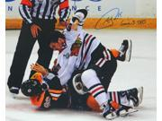 Andrew Shaw Signed Blackhawks 2013 Stanley Cup Finals Fight 16x20 Photo w/Game 3 TKO 9SIA1Z04FG8999