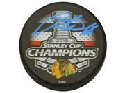 Patrick Kane Signed Chicago Blackhawks 2015 Stanley Cup Champs Logo Hockey Puck 9SIA1Z04MA1693
