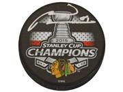 Marian Hossa Signed Blackhawks 2015 Stanley Cup Champs Logo Hockey Puck 9SIA1Z04MA1694