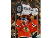 Patrick Kane Signed Chicago Blackhawks 2015 Stanley Cup Trophy 16x20 Photo 9SIA00Y6GA0874