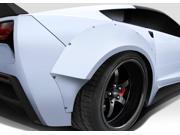 Duraflex FRP  Chevrolet Corvette C7  Gran Veloce Wide Body Rear Fender Flares- 2 Piece > 2014-2015