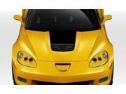 Duraflex FRP  Chevrolet Corvette C6  Stingray Z Hood - 1 Piece > 2005-2013