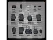 2010-2011 Honda CR-V Deluxe Leatherette Black Custom Seat Covers Full Set Front and Back